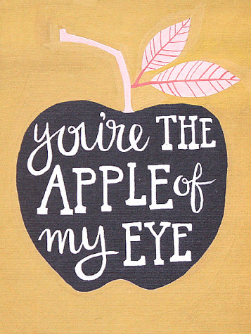 Apple Of My Eye from 1Canoe2 Letterpress