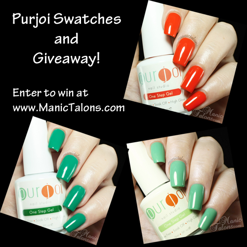 Purjoi One Step Swatches and Giveaway