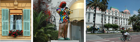 Escenas de la ciudad de Niza