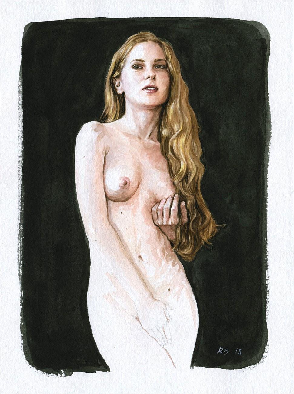 René Bui - Etude de nu à l'aquarelle 150119 - 2015