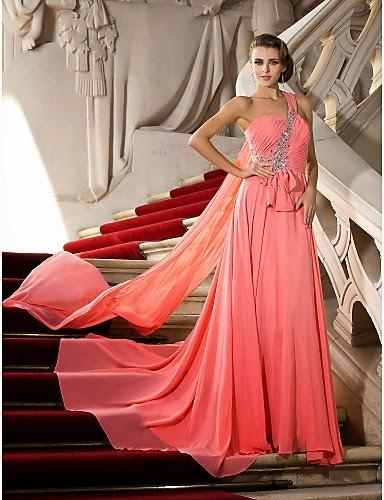 Vestido Largo de Ceremonia Rosa