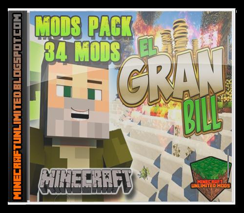 El Gran Bill Willyrex Mods Pack Minecraft
