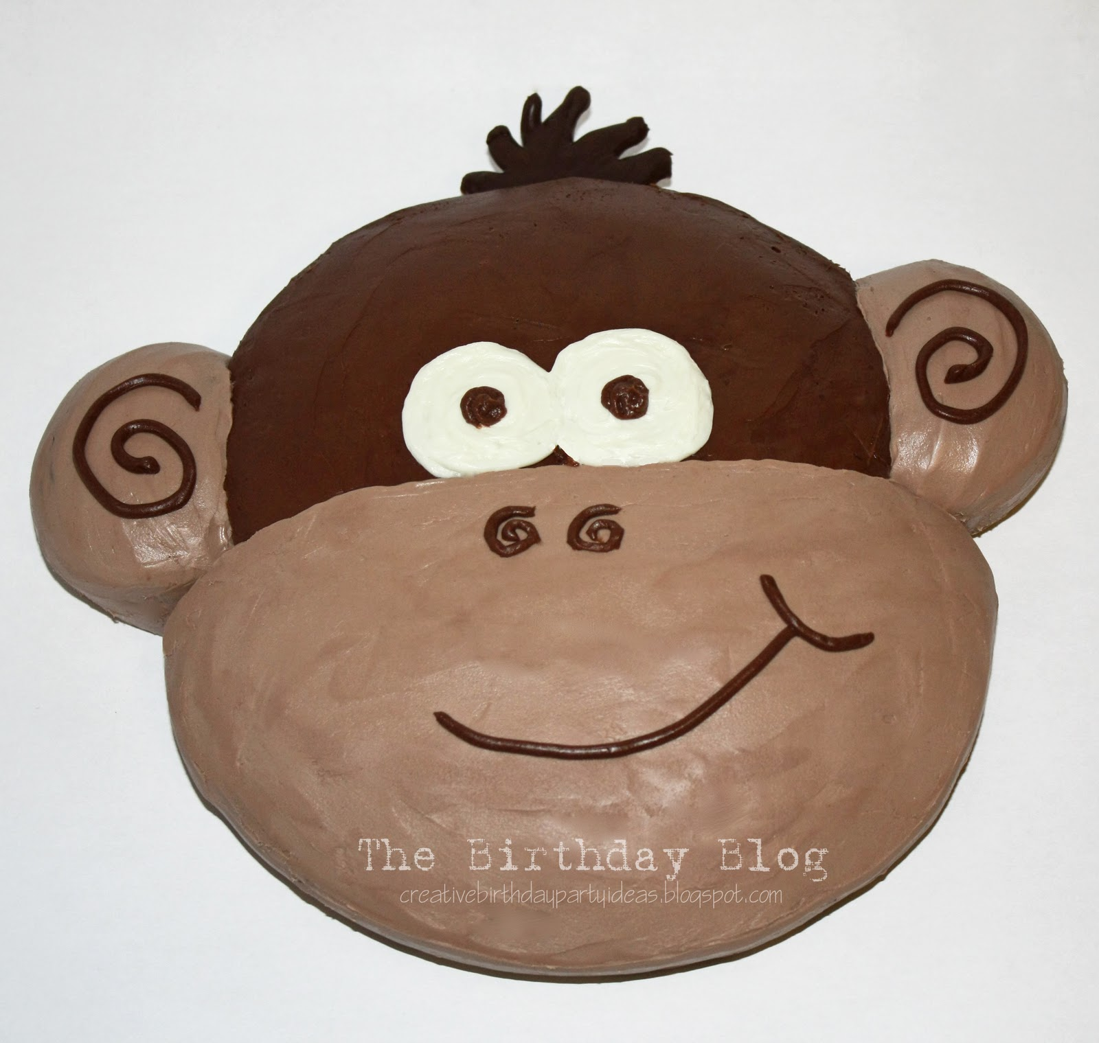 Monkey Birthday Cake Template
