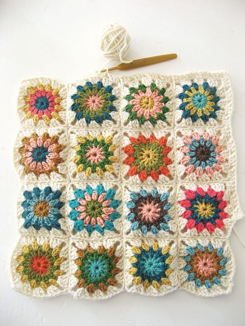 Free Crochet Granny Square Angel : on the brightside...: 2012 goals: Crochet a granny-square ...