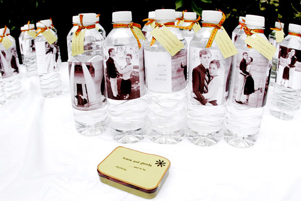If you are having an outside wedding give everyone a bottle of water to
