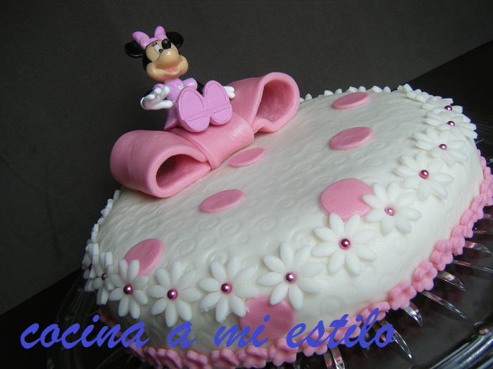 cocina a mi estilo: Tarta Minnie Mouse y mi ultimo curso