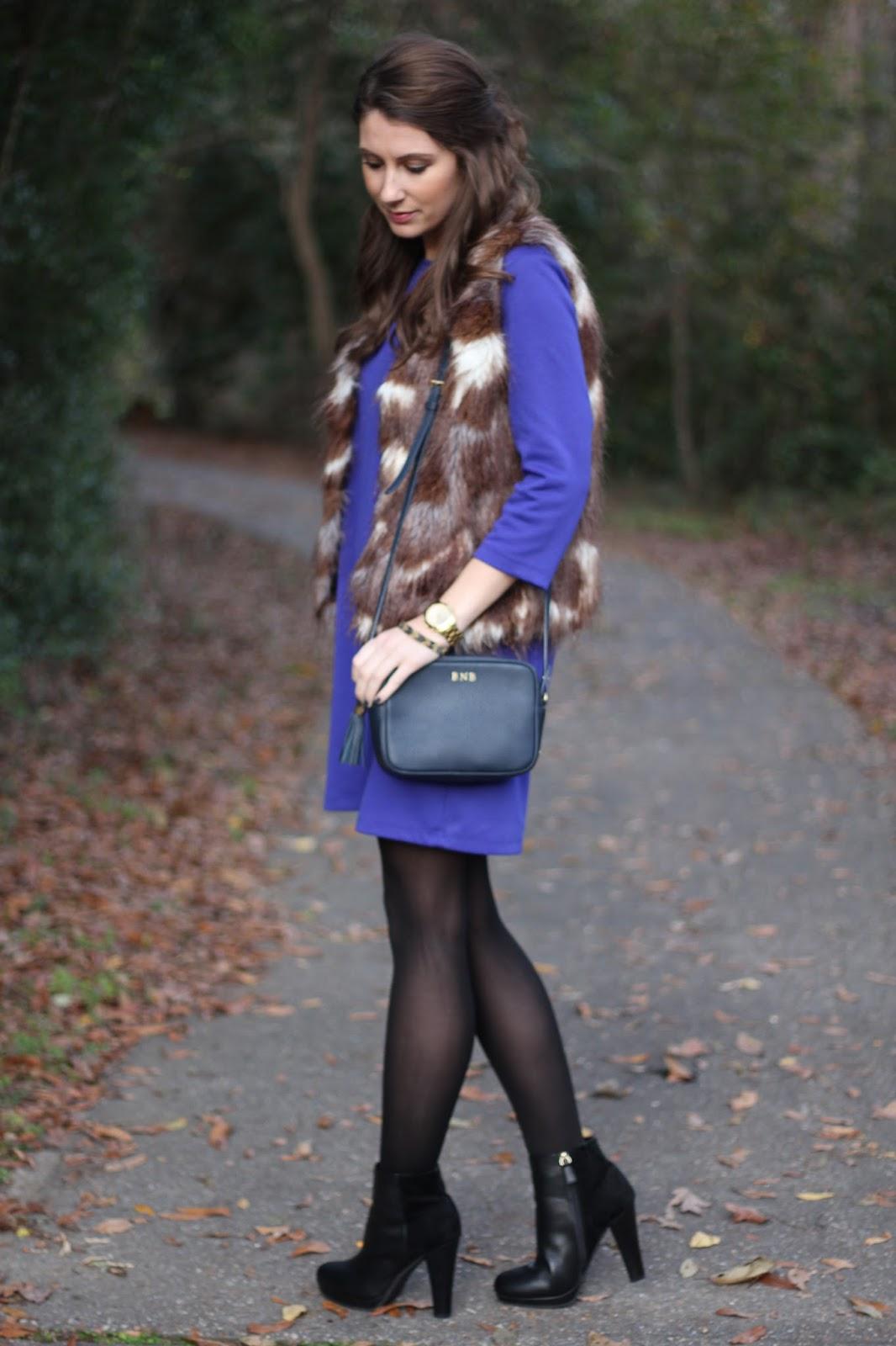 cobalt shift dress