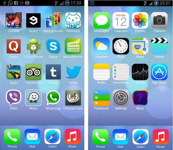 ios launcher wallpaper: TechnoWorldPedia: 3 Apps To Change Your Android Device