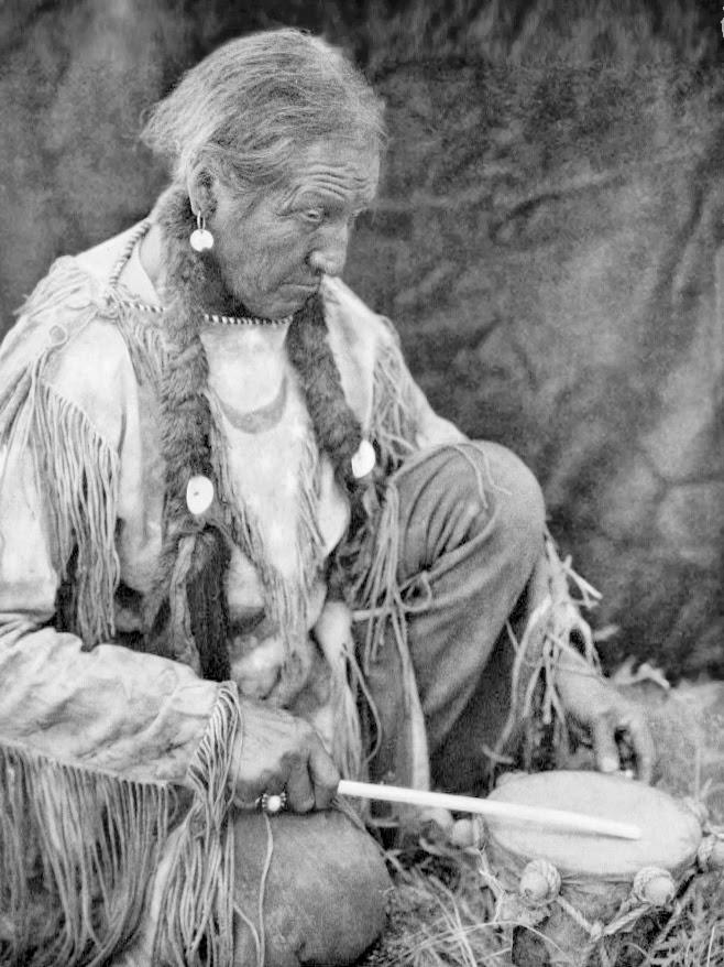 Peyote Drummer by Edward S Curtis 1927