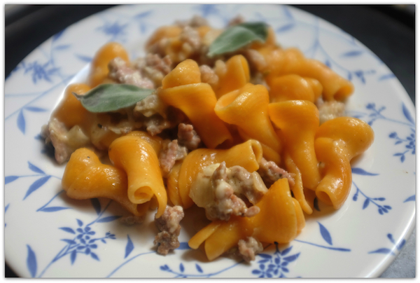 pumpkin torchio pasta
