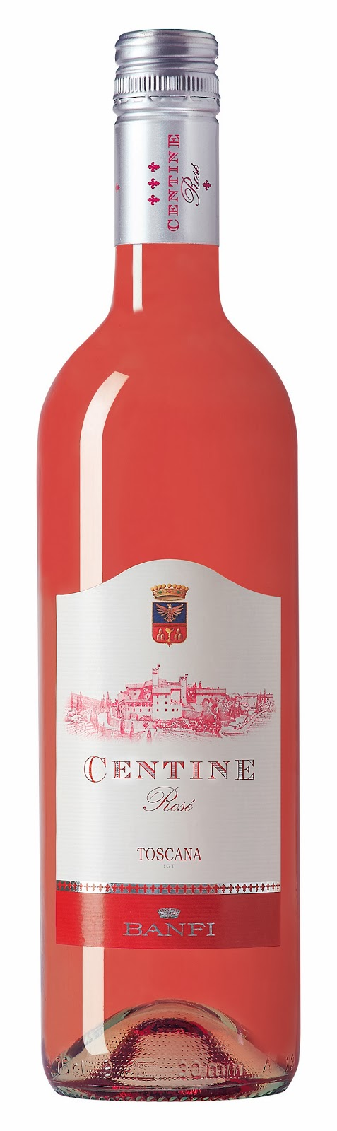 bottle of Centine Rose wine