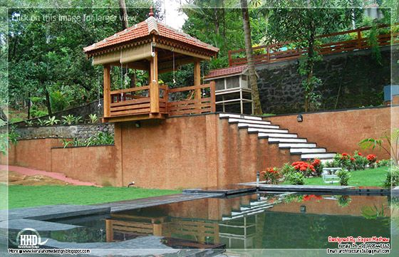 14 beautiful villa elevations kerala home design and for Villa landscape plan