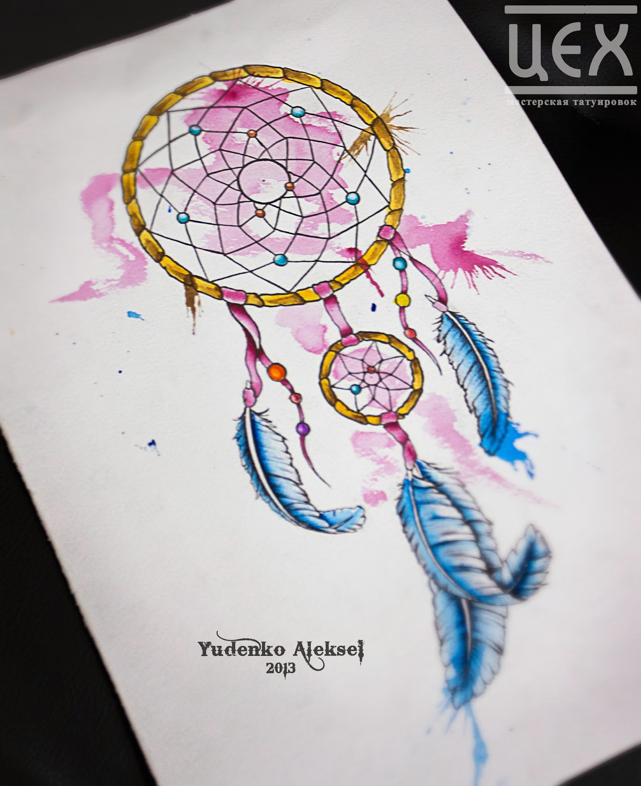 Tumblr dream catcher tattoo drawing hot girls wallpaper for Watercolor dreamcatcher tattoo