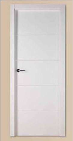 Siparket studio promocion puerta blanca ranurada for Precios puertas interior blancas