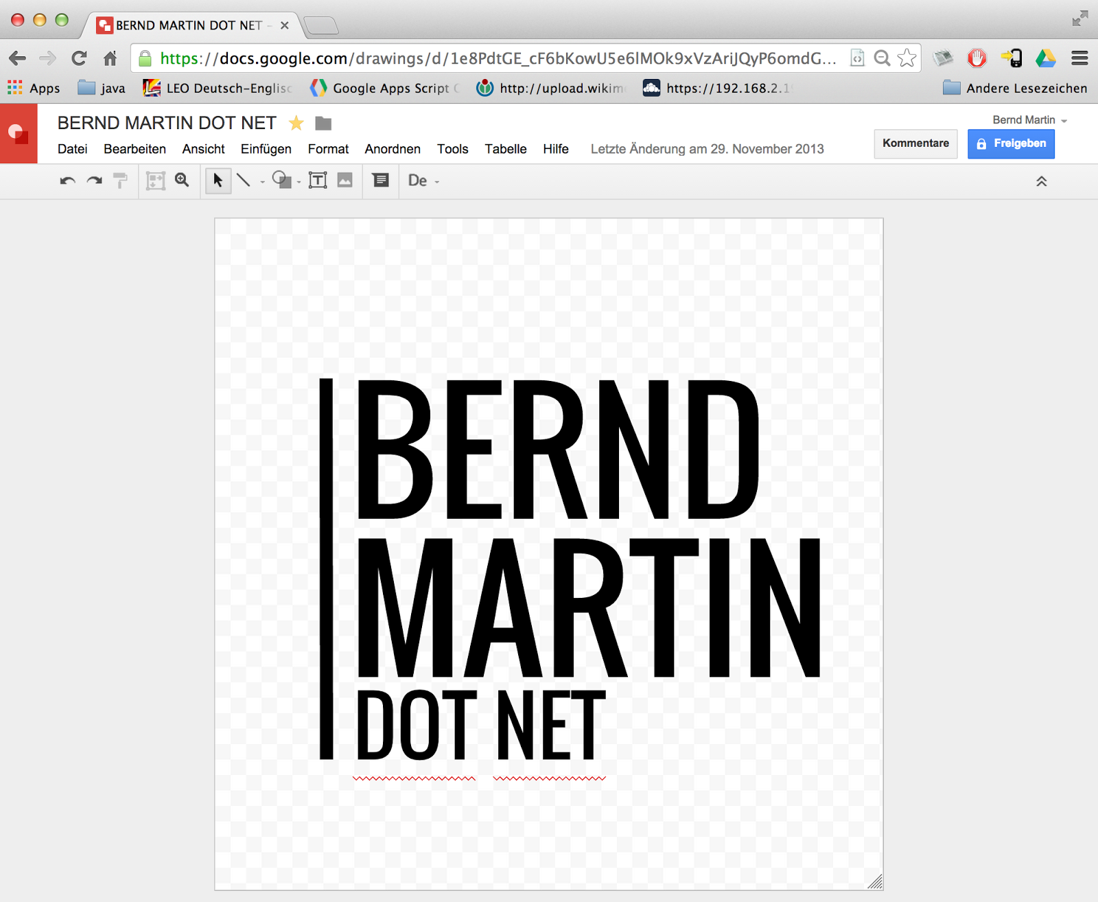 Bernd Martin Dot Net created with google drive