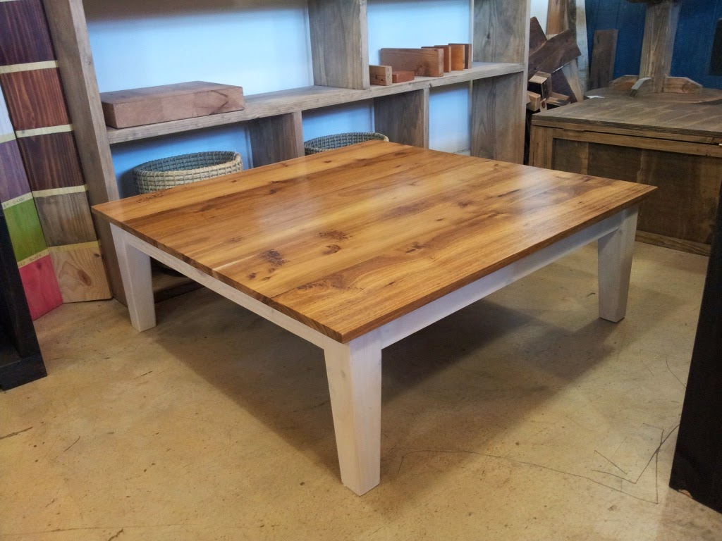 Blackwood Top Tapered Leg Coffee Table From Eco Furniture Design