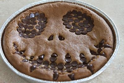 Dairy Free, Gluten Free, Ooey Gooey Jack Skellington Cookie Cake