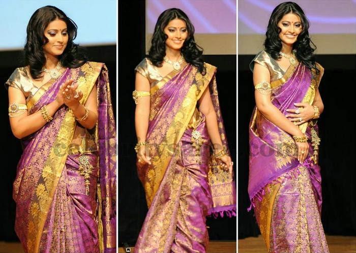 Sneha Shimmer Kanjivaram Saree
