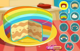 Permainan Keren Memasak Rainbow Cake