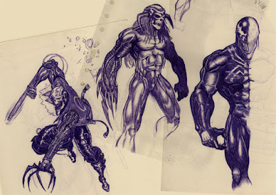 ghost rider, death's head, venom
