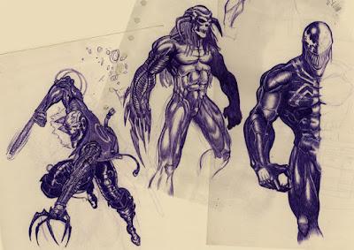 ghost rider, death's head, venom