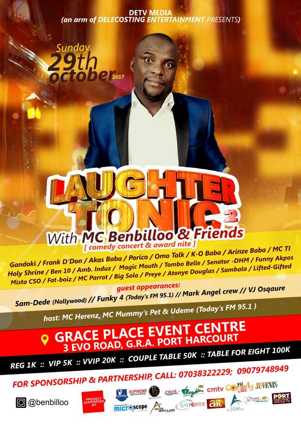 Laughter Tonic With MC Benbillo
