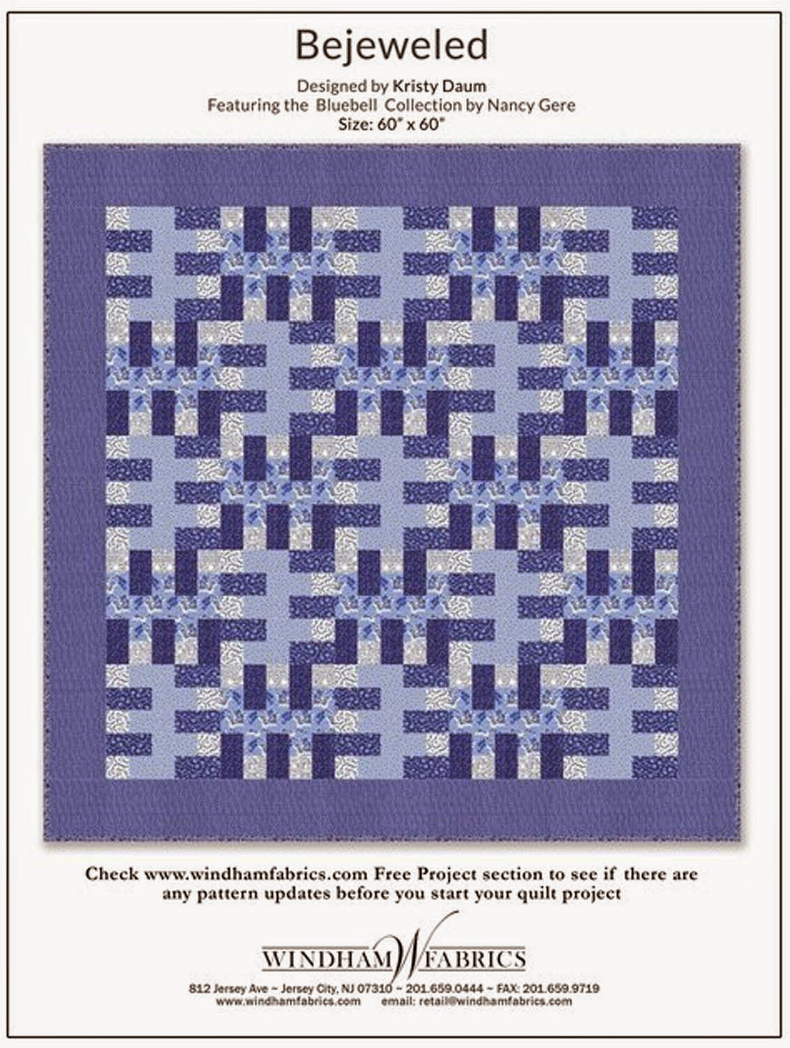 BEJEWELED Quilt Pattern