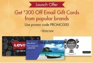 Gift Cards Rs. 300 off on Purchase of Rs. 3000 – Amazon
