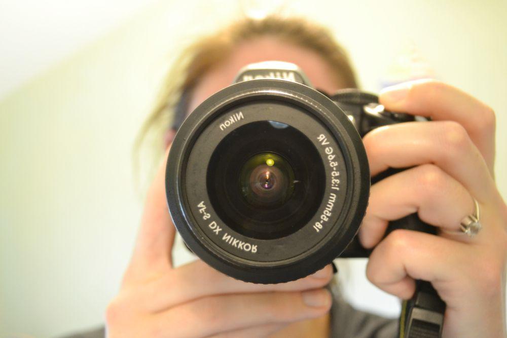 nikon camera lens DSLR mirror selfie
