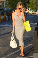 Pamela Anderson carrying some shopping bags