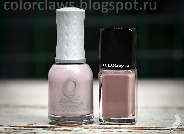 Illamasqua Stagnate + Orly You're Blushing