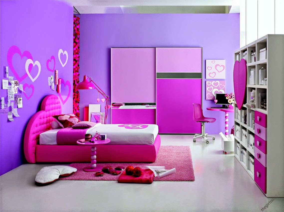 Bedroom color design for girls - Pink Wall Color Design Ideas Homeinteriordesign