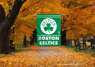 Desktop Wallpapers Boston Celtics Flag Celtics in Autumn Trees Desktop wallpaper