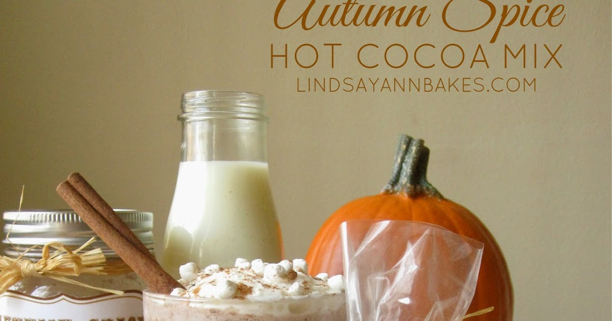 autumn spice hot cocoa mix  with free printable gift tag