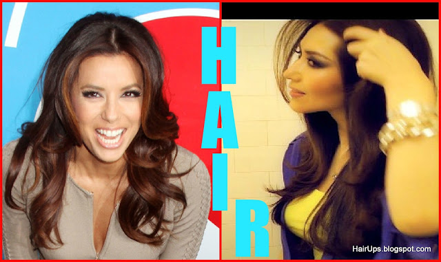 EVA LONGORIA VOLUMINOUS HAIR - Kim Kardashian Hair Tutorial for everyday, casual, for work, for school.