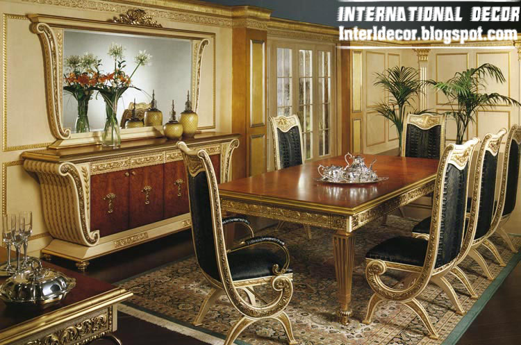 Luxury Italian Dining Room Furniture, Glided Dining Room Furniture 2013