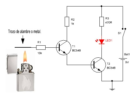 Circuito Detector De Fuego Facil on led wiring diagram