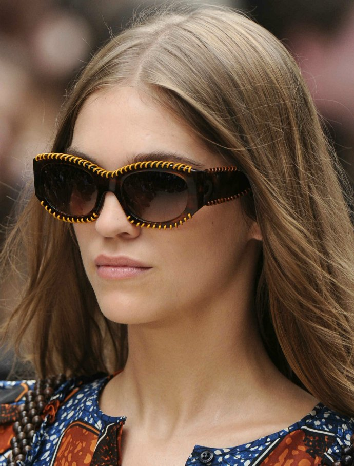 Sew good: Burberry SS2012 sunglasses