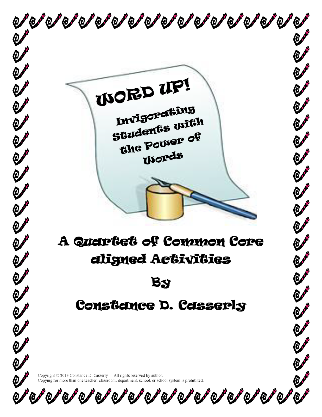 "Language Arts Activity - ""Word Up With the Power of Words"""