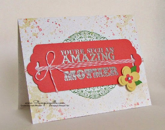 Pretty card for an amazing Mom | Stampingville #cardmaking #StampinUp
