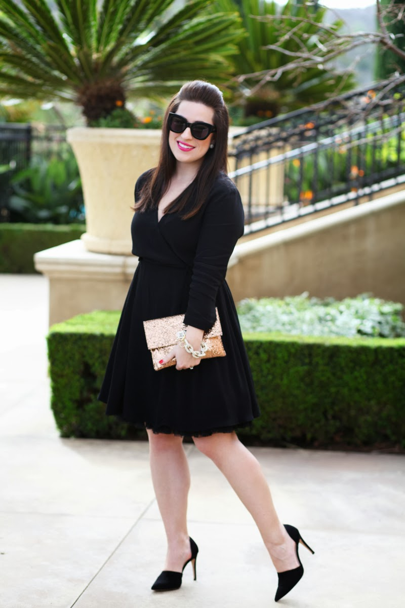 glitter-turn-lock-clutch-karen-walker-sunglasses-dorsay-heels-girl-about-town-lipstick-king-and-kind-style-blogger