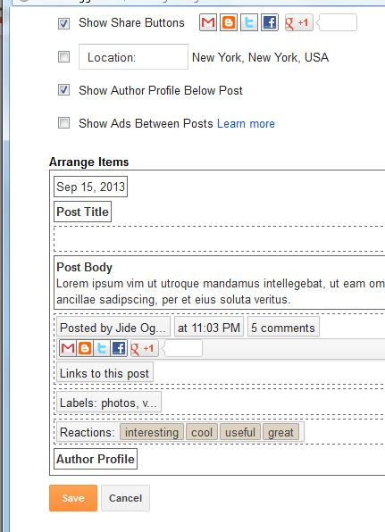 "Tick the ""Show Author Profile Below Post"" box as shown in the screenshot. Also ensure you ticked the ""Post by..."" box."