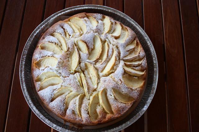 torta di mele e un saluto