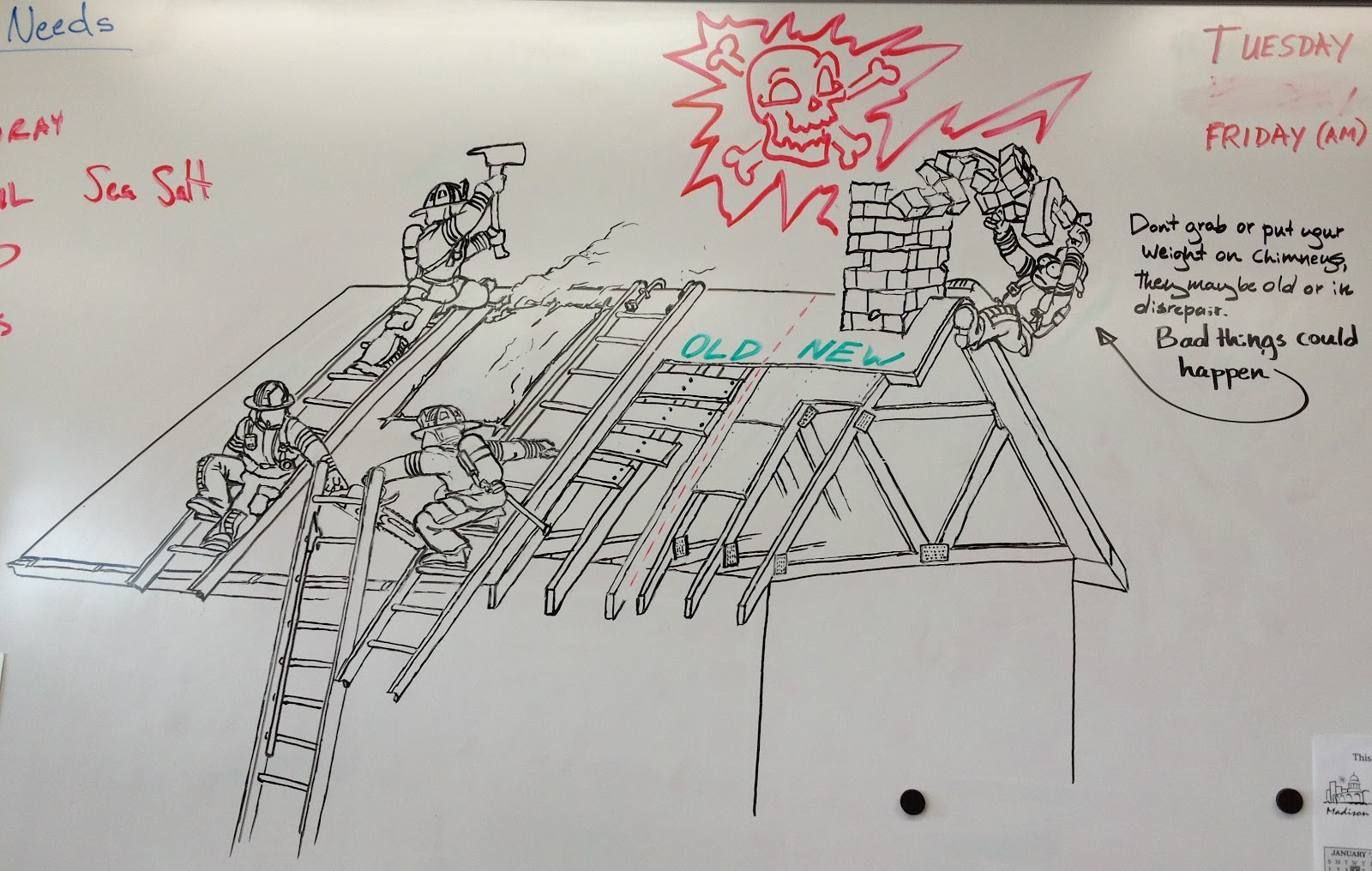 Flames in the smoke for Stuff to draw on a whiteboard
