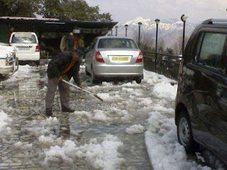 Snow fall in the Mussoorie, Uttarakhand