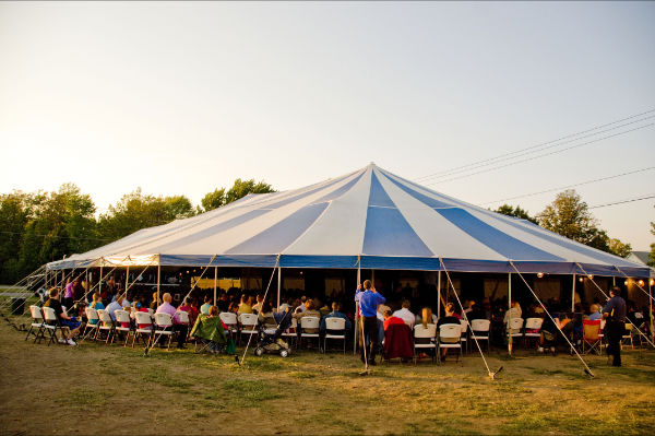 The old-fashioned gospel tent & Evangelist Craig Cobb: OLD TIME BAPTIST CAMP MEETING PHOTO GALLERY