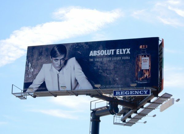 Chloe Sevigny Absolut Elyx Vodka billboard