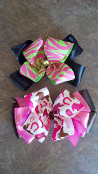 Zebra and Cowgirl Bows