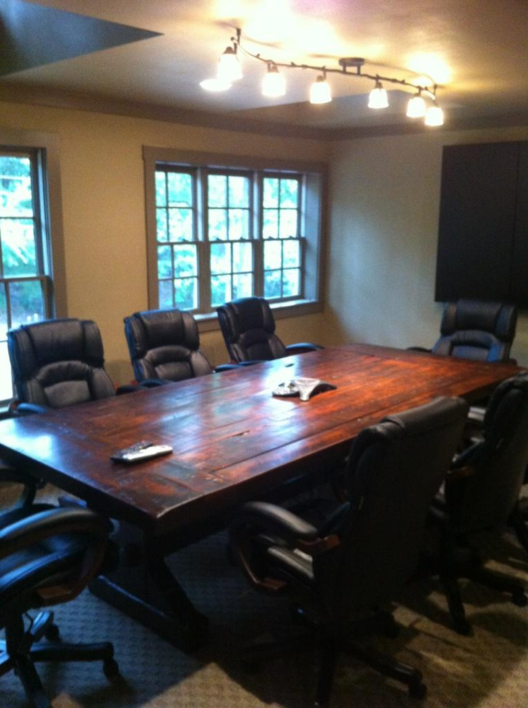 The Emerson Rustic Distressed Conference Table Atlanta Georgia - Handmade conference table