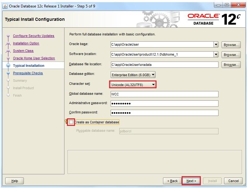 OracleADF, SOA, WEB CENTER: Oracle Database 12c version 12.2.1.0.0 ...